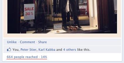 Spridningsfaktor för bilder på Facebook