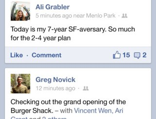 Ny snabbare facebook-app på Appstore