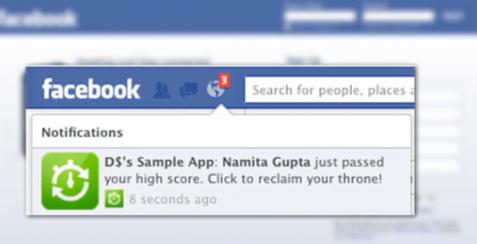 Facebook släpper notifikationer till appar